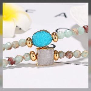 Jewelry - ✨JUST IN✨ Beads and Druzy Bracelet